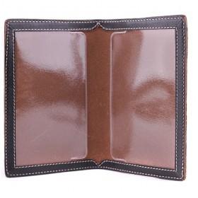 Обложка для паспорта натуральная кожа «Kansas»-O.8.TX.,    черный