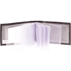 Визитница горизонтальная    (вкл 18 л)    н/к,    крок черный;    тисн Cards