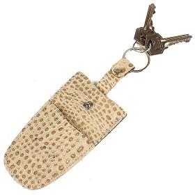 Футляр для ключей Premier-К-112 натуральная кожа бежевый кайман   (122)