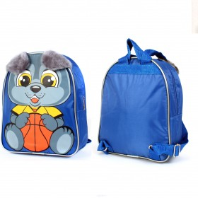 Рюкзак детский Silver Top-1041 Кроха прост спинка/волчонок,    синий