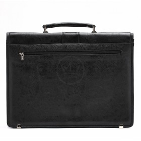 Портфель искусственная кожа Cantlor-W 4899-03,    8отд,    1внеш+3внут карм,    плечевой ремень,    черный