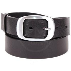 Ремень 35 мм FAVORIT 9600002  гладкий,    черный,    с пряжкой рамка