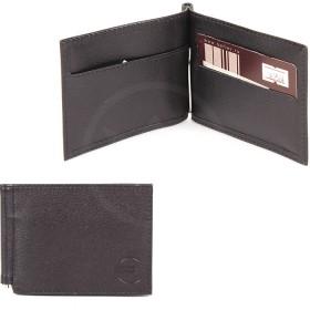 """Зажим натуральная кожа """"  Грейд""""  -Z.9.LG.   (откидной,    6внут карм,    внешний карман на молн) ,    черный"""