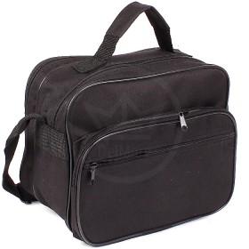 Сумка мужская текстиль Дизайн-Эксперт-2,    2отд,    плечевой ремень,    2внеш карм,    черный