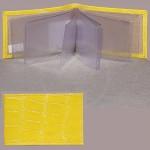 Визитница Cayman-17К    (18листов)    натуральная кожа желтый скат   (84)