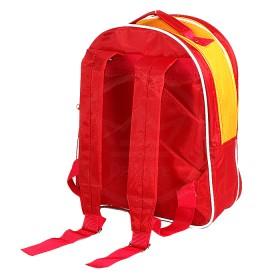 "Рюкзак Rinax-""  Степка"" ,    уплотнен спинка,    2отд,    2внеш карм,   ""  Собака"" ,    красный/желтый"