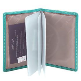 Обложка для автодокументов натуральная кожа «Ultra»-BV.75.FP.,    бирюза