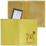 Обложка для паспорта натуральная кожа «Friends»-O.30.CH.,    лимон