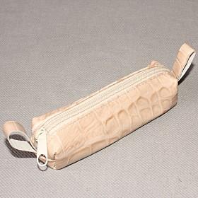 Футляр для ключей-FNX-КЛМ-101   (малая)    натуральная кожа бежевый крокодил   (275)