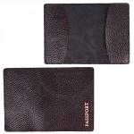 Обложка для паспорта FNX-PVS-001 натуральная кожа черный флотер   (3080)