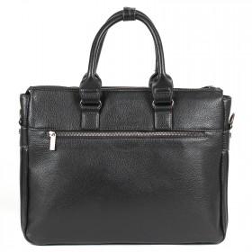 Портфель искусственная кожа Cantlor-W 1753-01,    3отд+отд/д ноут,    3внеш+3внут/карм,    черный