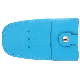 Футляр для ключей Premier-К-112 натуральная кожа голубой флотер   (324)