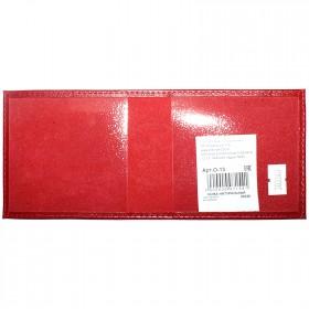 Обложка Premier-О-13   (охотничий билет)    натуральная кожа красный ладья   (35)