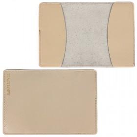 Обложка для паспорта FNX-PVS-001 натуральная кожа бежевый перламутр   (314)