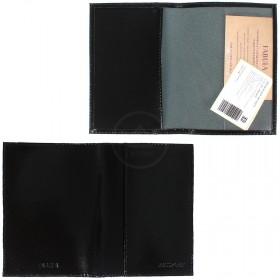 Обложка для паспорта натуральная кожа О.21.SH.черный