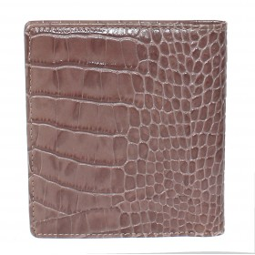 Визитница 2-х рядная натуральная кожа «CrocoNile» V.57/1.KR.кофейный