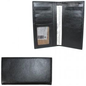 Портмоне мужское натуральная кожа «Estet»-PM.73.MN.,    6 отд,    12 карм,    черный