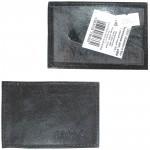 Обложка пропуск/карточка/проездной Croco-В-200 натуральная кожа черный галант   (209)