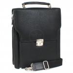 Портфель искусственная кожа Cantlor-W 22А-01,    5отд,    3внеш+евро карм,    плечевой ремень,    черный