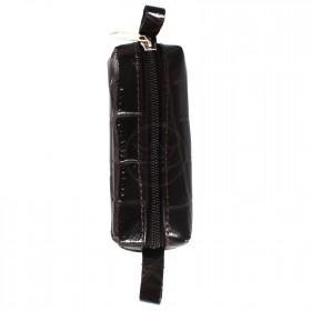 Футляр для ключей-FNX-КЛМ-101   (малая)    натуральная кожа коричневый скат   (312)