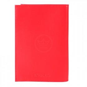 Обложка для паспорта натуральная кожа O.1.FV.красный