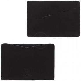Обложка-чехол для паспорта PRT-П-24 натуральная кожа краст наполи черный