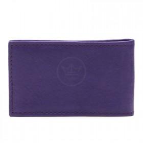 Визитница PRT-ФВ-1   (18 листов)    натуральная кожа фиолетовый тайлер