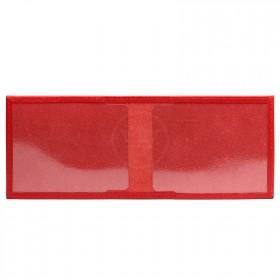 Обложка Premier-О-117   (пенс. удост.,    с окошком)    натуральная кожа красный ладья   (35)