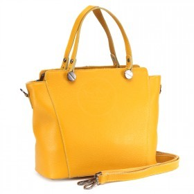 Сумка женская натуральная кожа RM-H-3396,    1отд+карм/пер,    плечевой ремень,    желтый